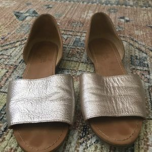 Latino Milly Gold Natural Leather Sandals 7.5